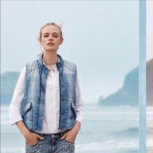 Cloth & Stone @Anthropologie Chambray Denim Vest